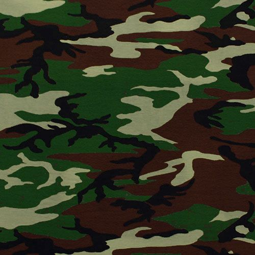 Army Camo Cotton Spandex Knit Fabric - Army green, brown ...