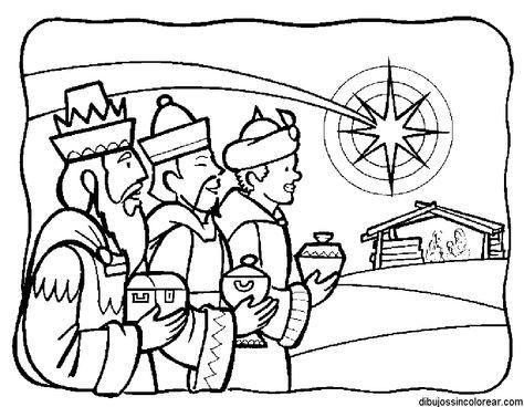 Dibujos Sin Colorear: Dibujos de los Reyes Magos para Colorear