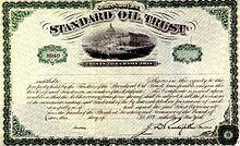 John D. Rockefeller - Standard Oil Trust Certificate 1896
