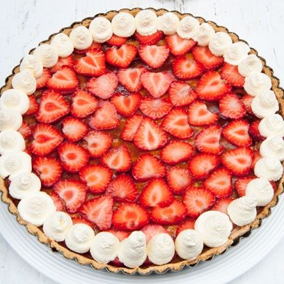 Delectable Dessert Recipes: Summer Strawberry Tart. Click the image to find the full recipe at redonline.co.uk