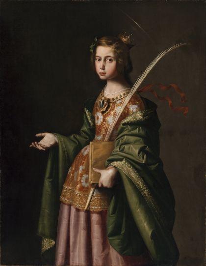 Santa Isabel de Turingia. Francisco de Zurbarán, c. 1635-1640, Museo de Bellas Artes de Bilbao