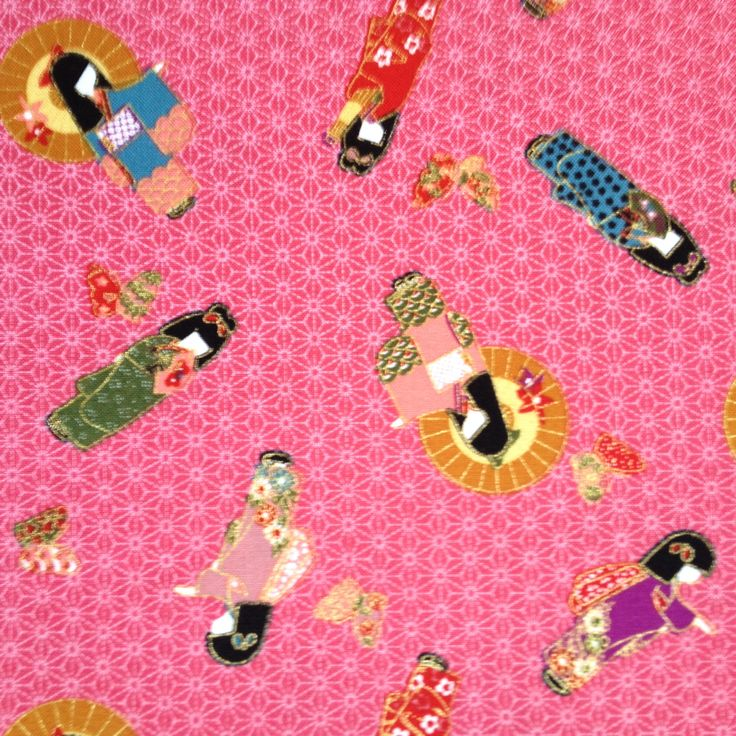 "Japanese fabric ""geisha pink"" Available at www.karlottapink.com"