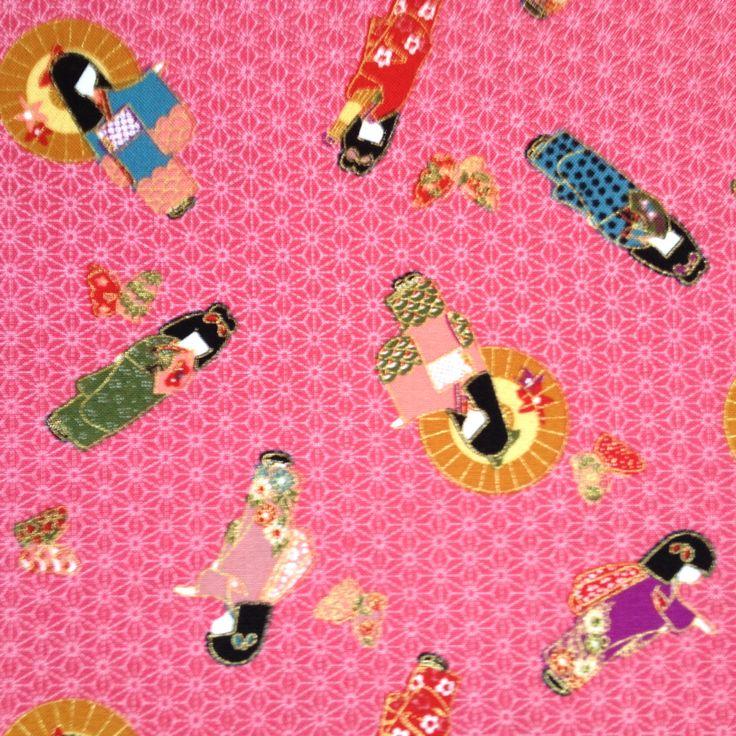 "Japanese fabric ""geisha pink"" Available at www.karlottapink.com"
