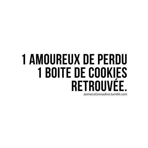 1 amoureux de perdu 1 boite de cookies retrouvée -...