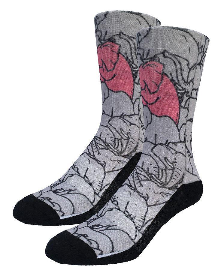 Elephants Moshing | Good Luck Sock | goodlucksock.com #socks