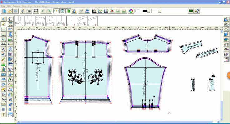 Richpeace Garment CAD Software can grading in one system.
