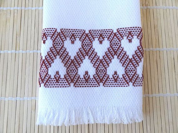 Tea Towel Dish Towel Swedish Weaving Deep Red by SnowboundMe, $16.00