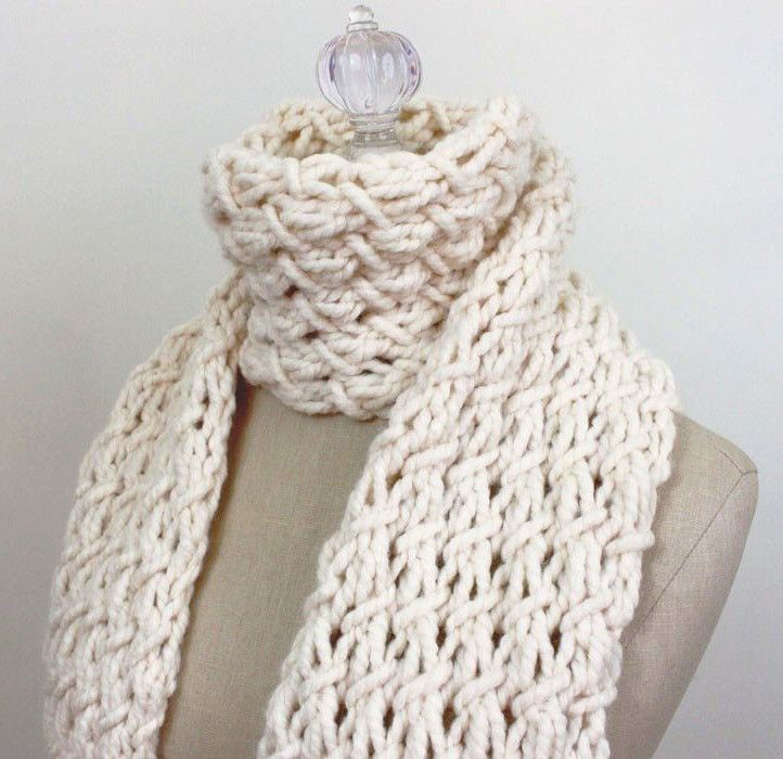 Funky Chunky Knitted Scarf Pattern Picture Collection Easy Scarf
