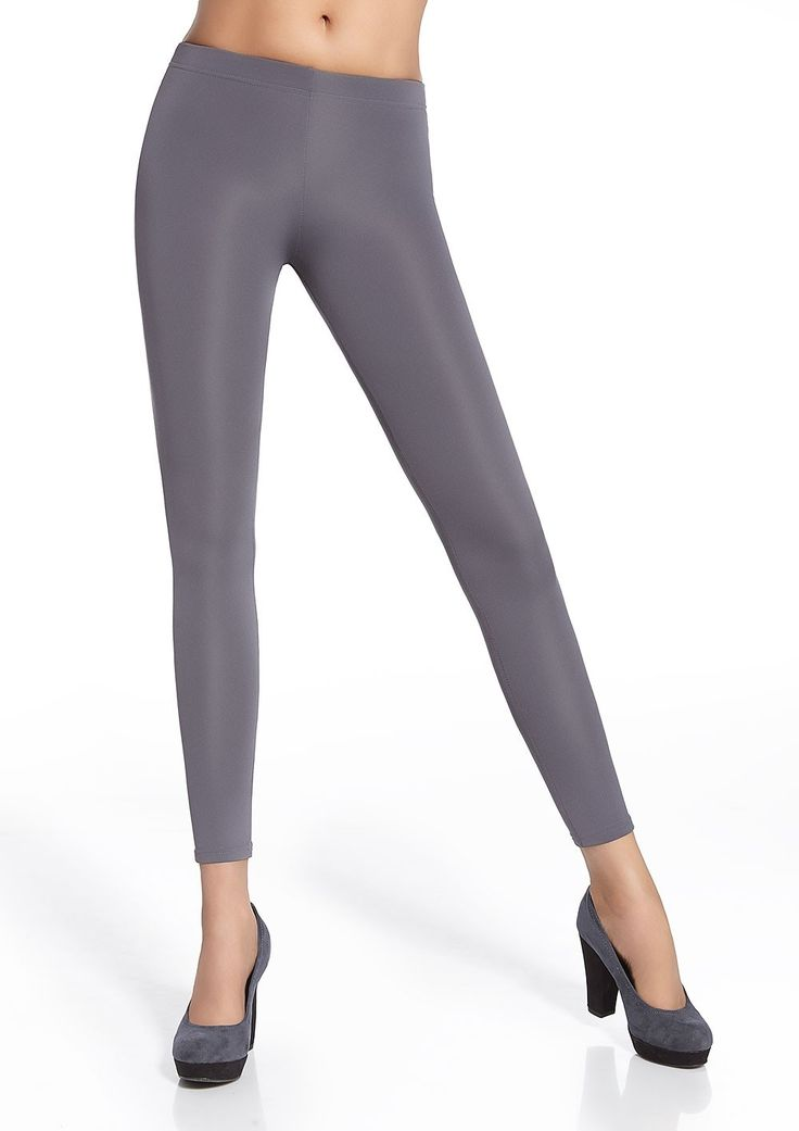Women leggings grey satiny - Leggings satiné gris Gabi Bas Bleu #leggings #mode