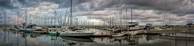 Last Day #1 - The last day of 2016 at Fiddler's Cove Marina in Coronado, California.  Buy this photo at: http://www.billchizekphotography.com/Archive/i-BqWS5Qm/A  #coronado #california #sailing #sailboat #sailboats #marina #dock #storm #clouds #panorama #panoramic