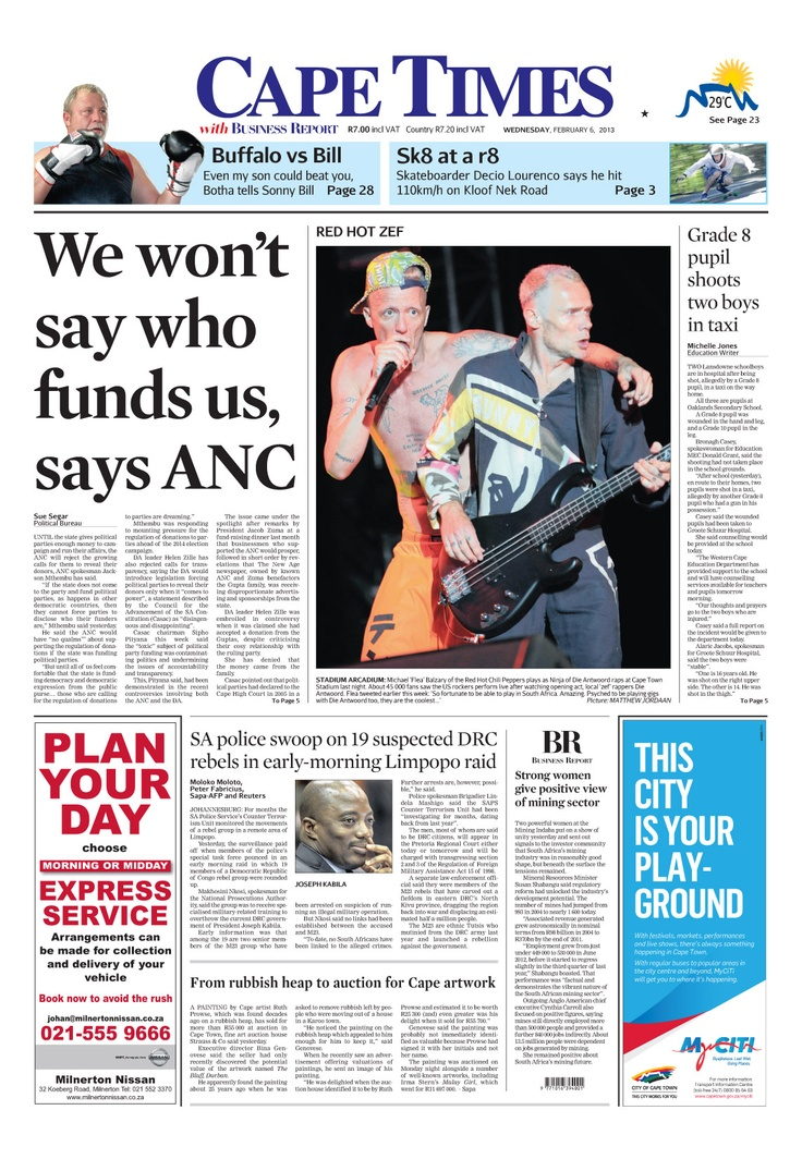 News making headlines: We won't say who funded us, says ANC