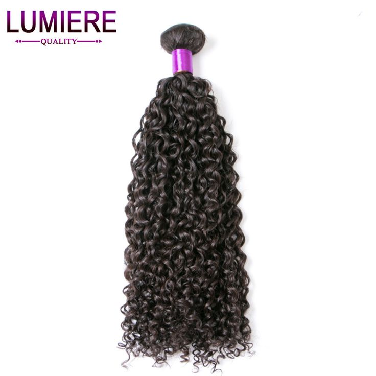 Lumiere Hair Kinky Curly Human Hair Extensions 1 Piece Only Non-remy Hair 10-30 Inch Malaysian Hair Bundles #1B