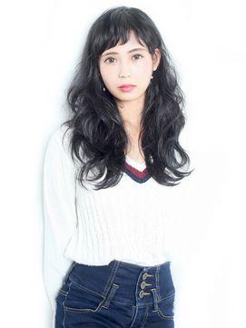 【2016年冬トレンド】黒髪パーマ★/Iris.のヘアスタイル