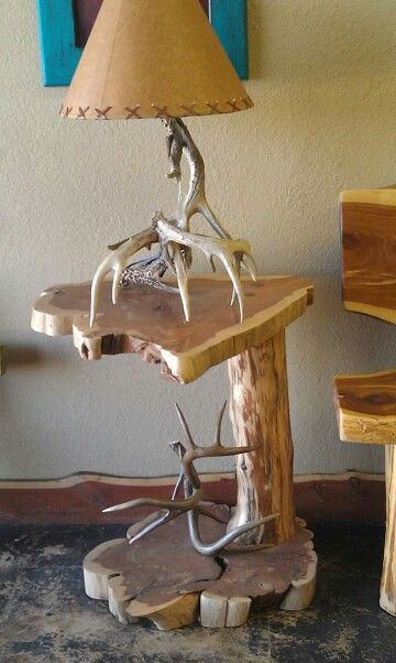 Cedar log end table.  I need two please.