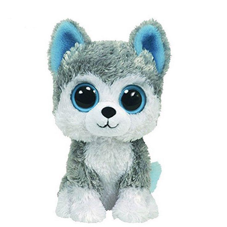 AUTOPS 2016 Hot Sale 18cm Beanie Big Eyes Husky Dog and Owl Plush Toy Doll Stuffed Animal Cute Plush Toy Kids Toy Boos