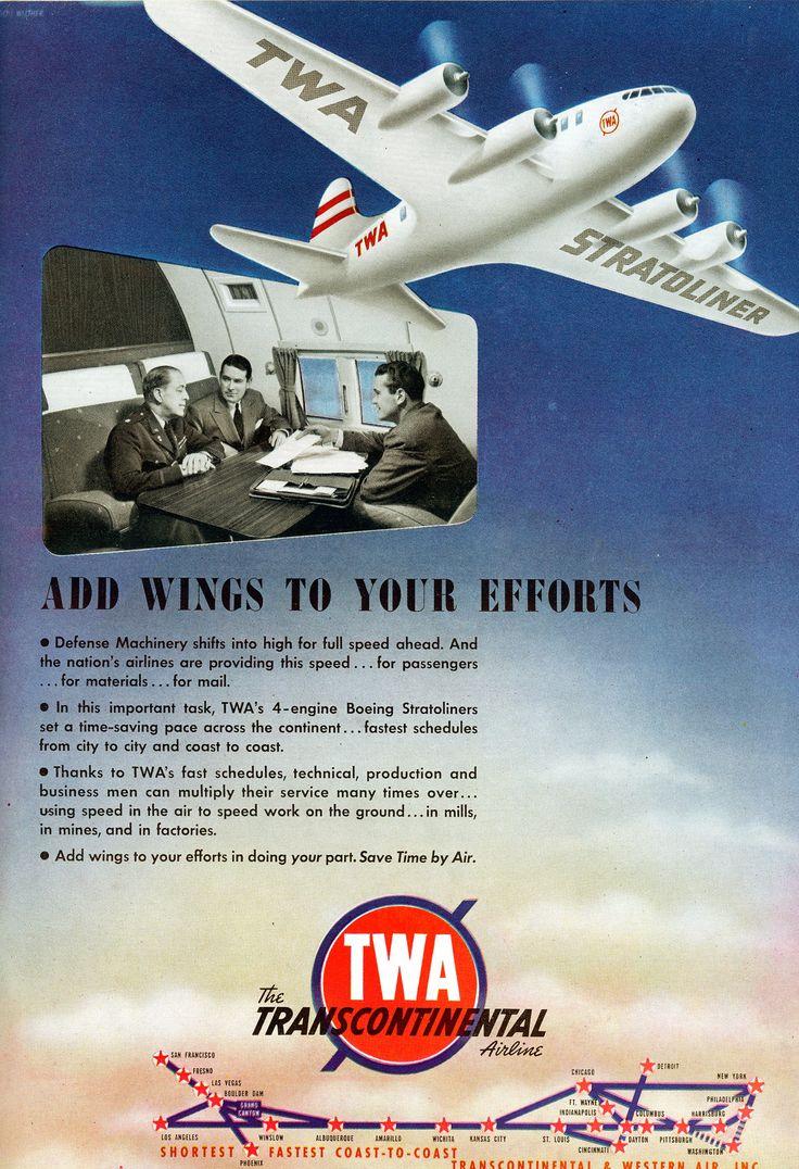 TWA Airlines Vintage Ad