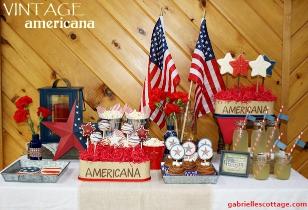A great 4th of July dessert board you won't want to miss out on! Gabrielle's Cottage — Where modern meets vintage in lifestyle, entertaining, and home decor