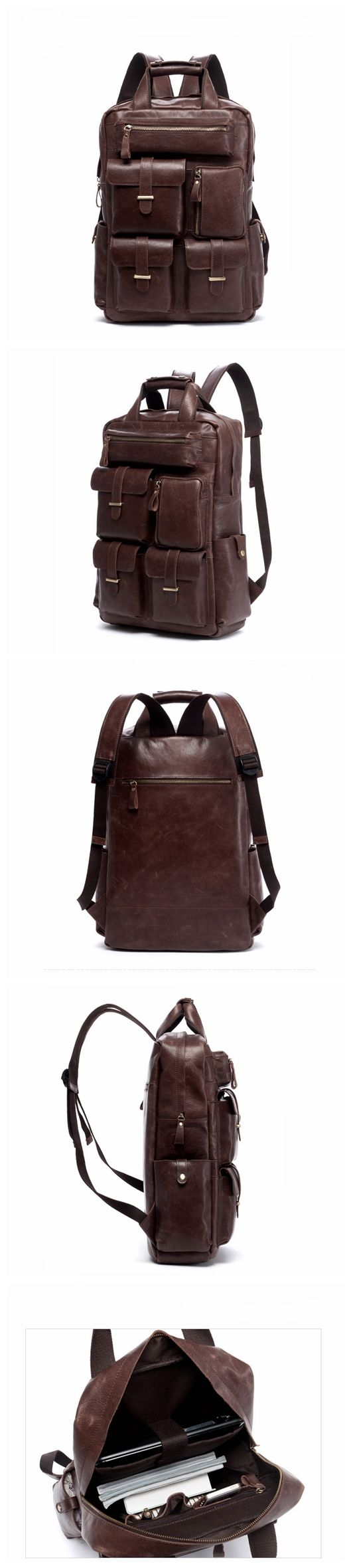 Leather Backpack Laptop Backpack Laptop Bags