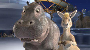 Disney Hippo Eze the Hippo and Duke the Kangaroo in Walt