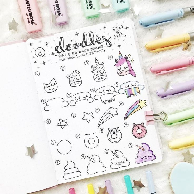 35 Bullet Journal Doodle-Tutorials (1 – #Bullet #d…