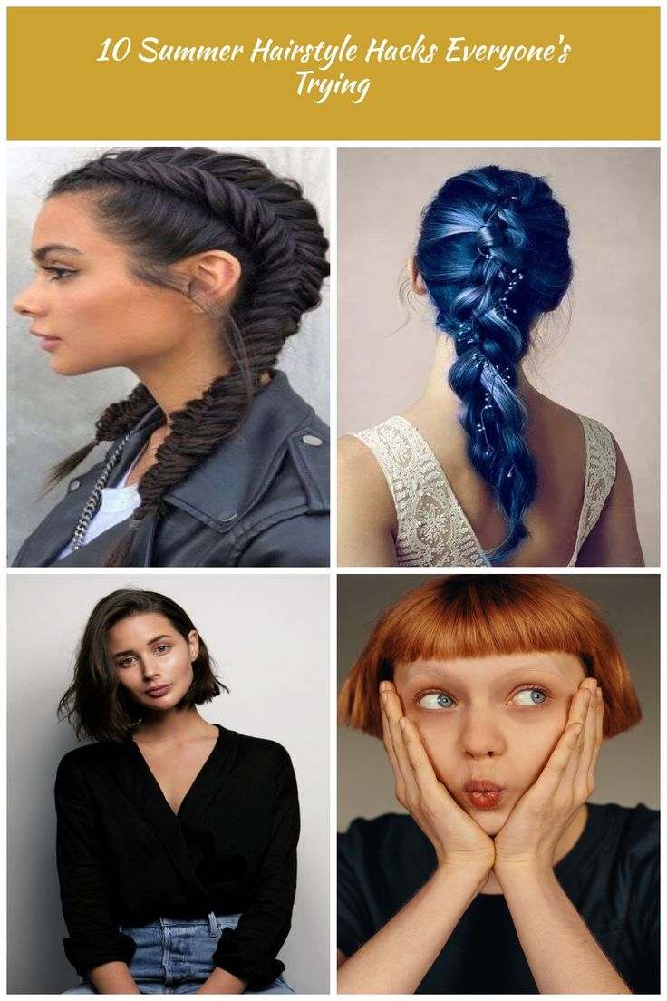 10 Summer Hairstyle Hacks Everyone's Trying Haarfarbe 10 Summer Hairstyle Hacks Everyone's ...