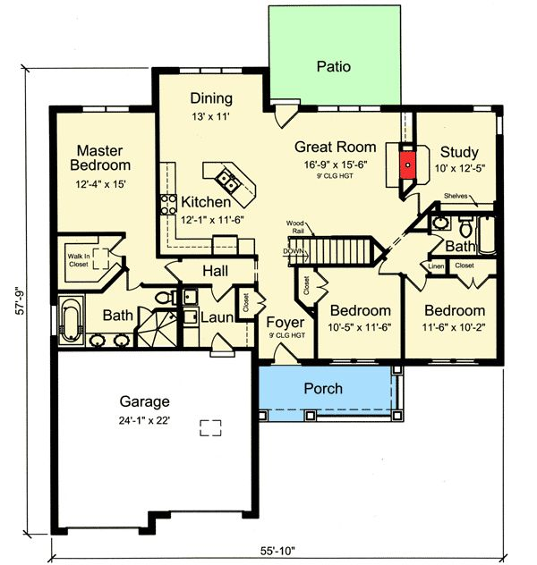 1000 Ideas About One Bedroom House On Pinterest Small
