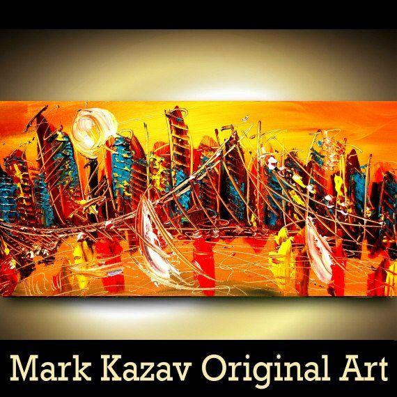 NEW YORK CITY  original oil painting by Mark Kazav on by kazavart