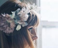 Flower crown, hair, hair piece