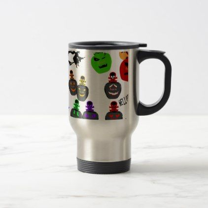 Halloween Perfume Bottle Emoji Travel Mug - halloween decor diy cyo personalize unique party
