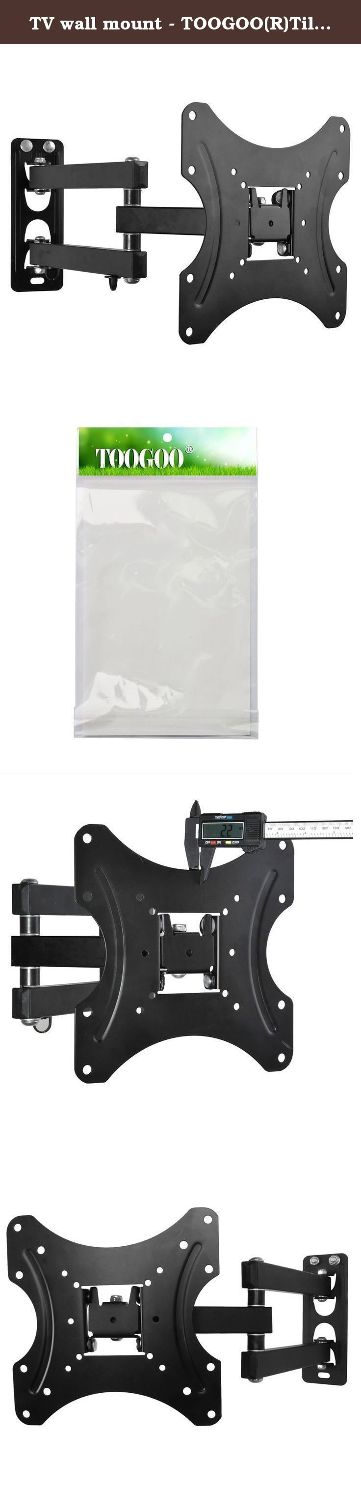 TV wall mount - TOOGOO(R)Tilt Swivel Plasma LCD LED TV Wall Bracket Mount 10 26 30 32 37 38 40 42inch. * TOOGOO is a registered trademark. ONLY Authorized seller of TOOGOO can sell under TOOGOO listings. Our products will enhance your experience to unparalleled inspiration. TOOGOO(R)Tilt Swivel Plasma LCD LED TV Wall Bracket Mount 10 26 30 32 37 38 40 42inch Mount Dimensions(W*H): 220mm x 220mm Vesa Size: 200x200mm, 200x100mm, 150x150mm,100x100mm, 75x75mm Fitting Hole Distance(W*H)…