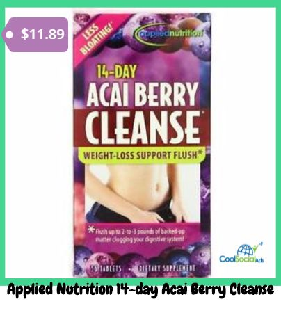 Applied Nutrition 14-day Acai Berry Cleanse for more details visit http://coolsocialads.com/applied-nutrition-14-day-acai-berry-cleanse-83862