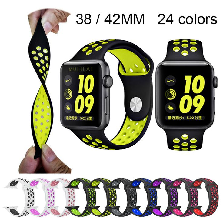 BRAND sport Silicone band strap for apple watch nike 42mm 38mm bracelet wrist band watch watchband For iwatch 2/1 Accessories-in Watchbands from Watches on Aliexpress.com | Alibaba Group