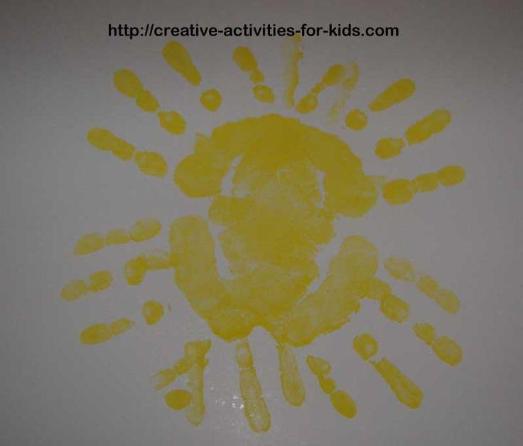 Summer Crafts For Preschoolers | Fun Handprint Craft Ideas