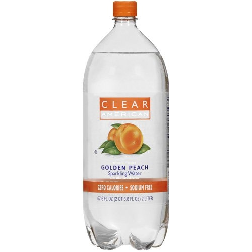 Clear American Golden Peach Naturally Flavored Sparkling Water