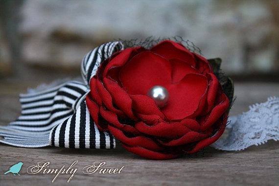 My Valentine - Vintage Inspired Valentine Headband M2M Persnickety Holiday 2012