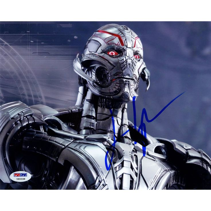 James Spader Signed Ultron Close Up 8x10 Photo (PSA/DNA)