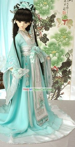 light blue chinese hanfu
