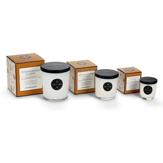 Persian Orange & Cassis Aromabotanicals scented candles, in three sizes