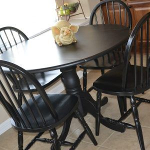 Large Black Round Kitchen Table