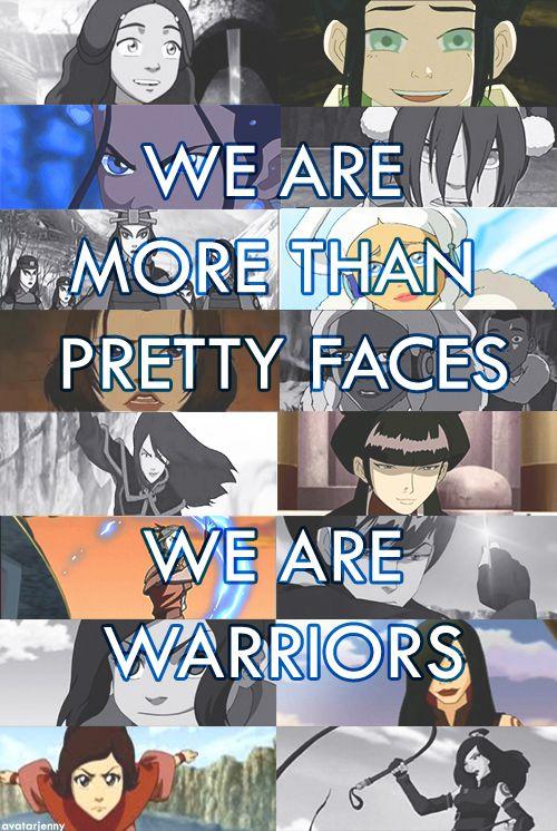 The Women of Avatar:  Katara, Toph, Suki, Yue, Azula, Mai, Ty Lee, June