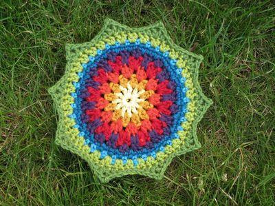Rainbow sequence Mandala Wheel