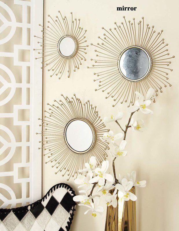 3 Piece Wall Mirror Set Wall Mirrors Set 3 Piece Wall Mirrors Mirror Wall Bedroom