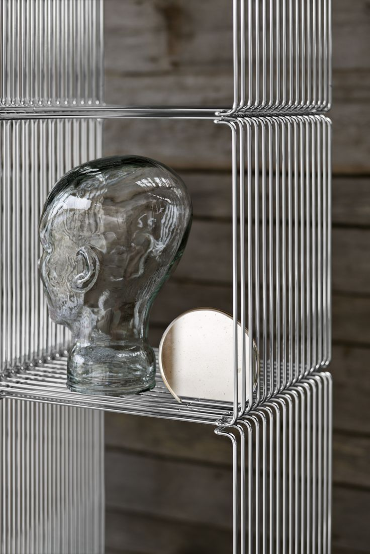 Panton Wire – wire cube shelving system by Verner Panton in steel-plated chrome. #montana #furniture #danish #design