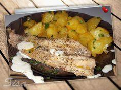 Pečená treska na masle s kurkumovými zemiakmi. | Hrnčekové recepty