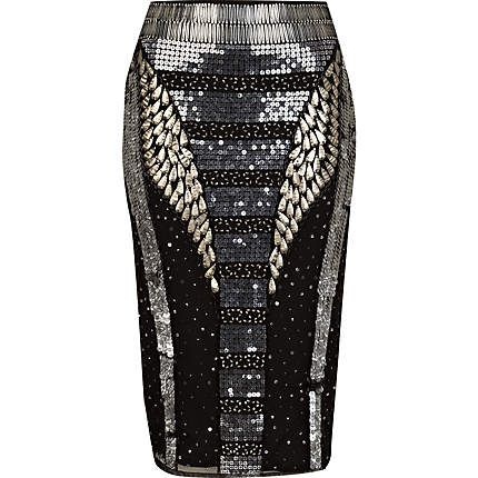 Sparkly Pencil Skirt