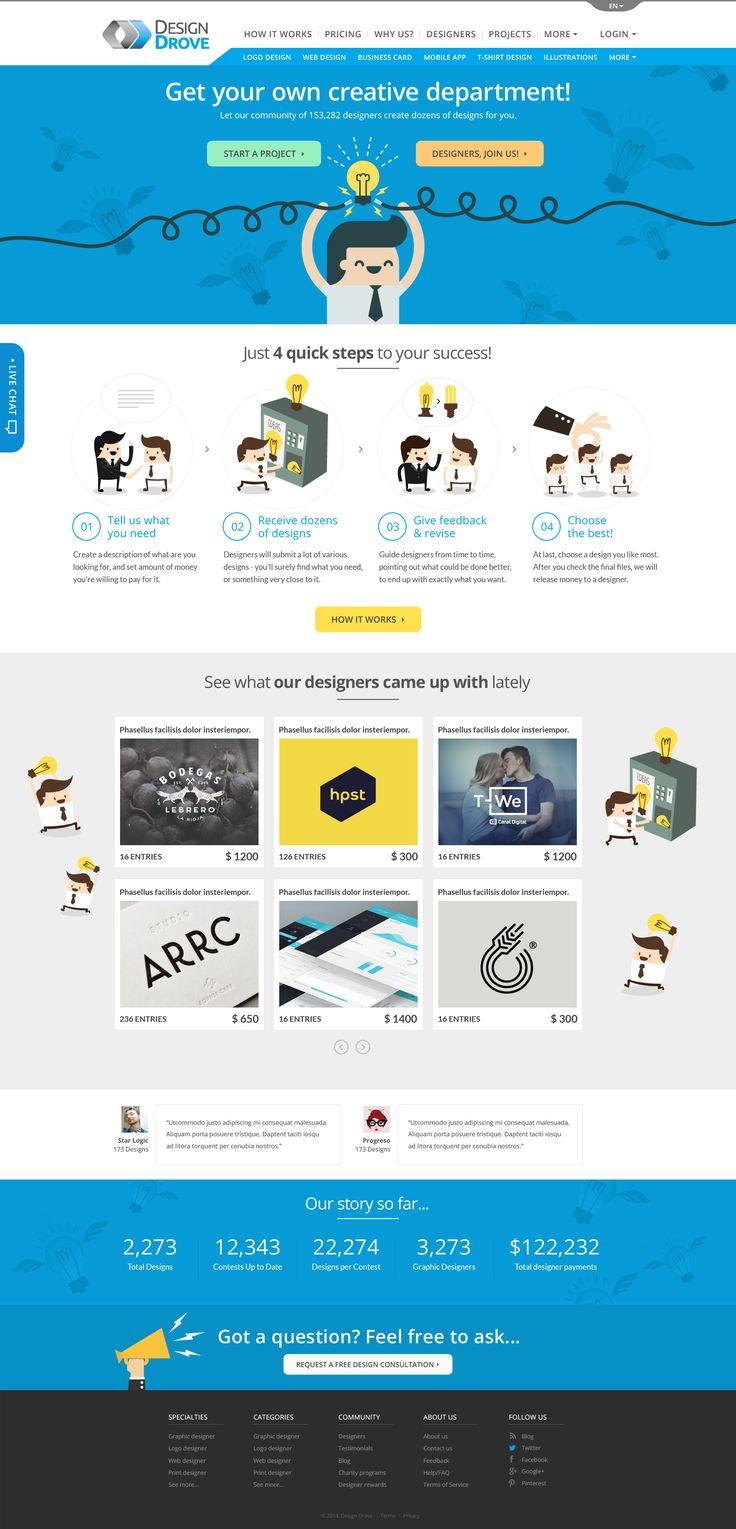 Lading page design by Rosst80 for DesignDrove. #landingpage #websitedesign #design