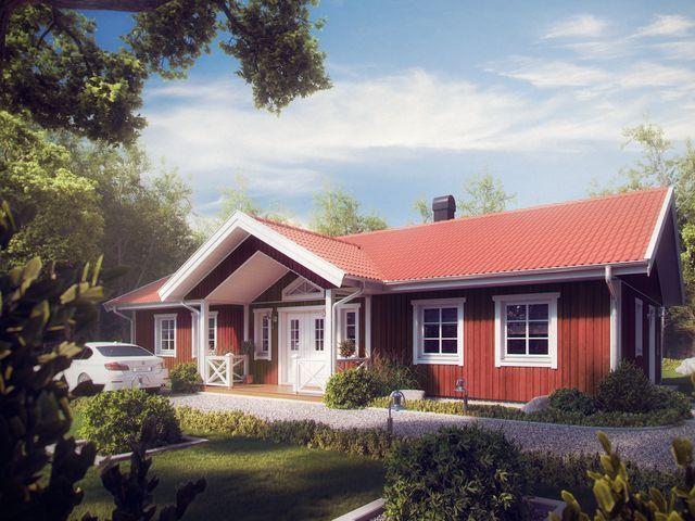 Главное крыльцо сказочного шведского дома Сельма