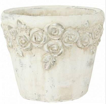 Kameninový květináč s růžičkami