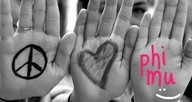 Peace, Love, Phi Mu!