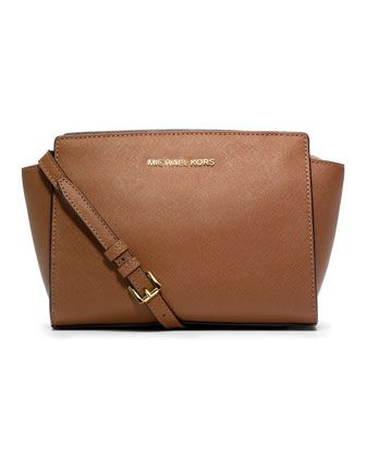 Medium Selma Messenger by MICHAEL Michael Kors at Neiman Marcus.  i want this in black!!
